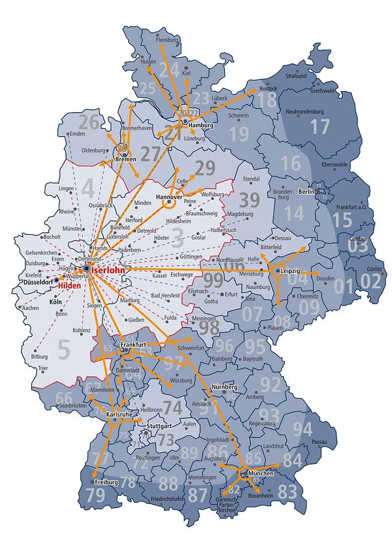 TLW Streckenplan